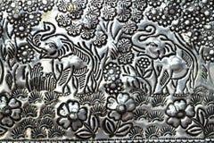 cyzelowanie słonie Obrazy Stock
