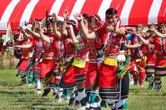 Członkowie Amis plemię w Tradycyjnych kostiumach zdjęcie royalty free