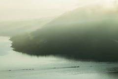 Czółen Paddlers powietrza krajobraz zdjęcie royalty free