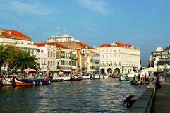 Czółna w Aveiro, Portugalia zdjęcia royalty free
