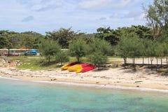 Czółno na plaży Zdjęcie Royalty Free