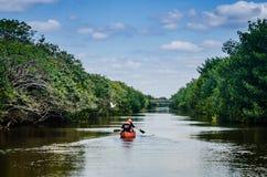 Czółno - Biscayne park narodowy - Floryda Obrazy Stock