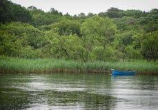 Czółno w jeziorze Fotografia Stock