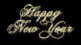 Cząsteczka nowego roku Szczęśliwa animacja, Alfa kanał, Bezszwowa pętla zdjęcie wideo