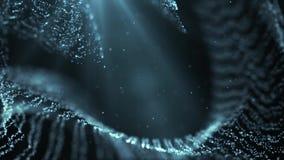 Cząsteczka pyłu abstrakta światła ruchu tytułów tła filmowa pętla ilustracja wektor