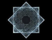 Cząsteczki abstrakcjonistyczny fractal tworzą na temat jądrowego physics nauki i graficznego projekta Geometrii święty futurystyc ilustracji