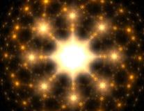 Cząsteczki abstrakcjonistyczny fractal tworzą na temat jądrowego physics nauki i graficznego projekta Geometrii święty futurystyc ilustracja wektor