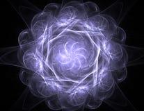 Cząsteczki abstrakcjonistyczny fractal tworzą na temat jądrowego physics nauki i graficznego projekta Geometrii święty futurystyc royalty ilustracja