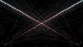 Cząsteczki fantazi ruch, Abstrakcjonistyczny fantazja ruchu tło, shi Obraz Stock