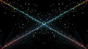 Cząsteczki fantazi ruch, Abstrakcjonistyczny fantazja ruchu tło, shi Obrazy Stock