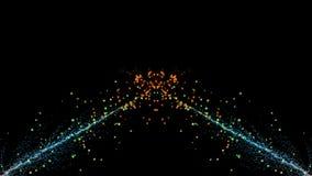 Cząsteczki fantazi ruch, Abstrakcjonistyczny fantazja ruchu tło, shi Obrazy Royalty Free