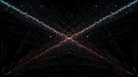 Cząsteczki fantazi ruch, Abstrakcjonistyczny fantazja ruchu tło, shi Fotografia Stock