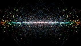 Cząsteczki fantazi ruch, Abstrakcjonistyczny fantazja ruchu tło, shi Zdjęcie Royalty Free
