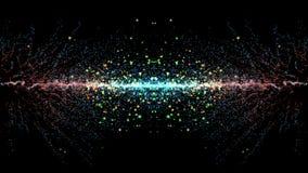 Cząsteczki fantazi ruch, Abstrakcjonistyczny fantazja ruchu tło, shi Obraz Royalty Free