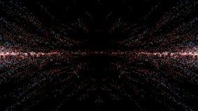 Cząsteczki fantazi ruch, Abstrakcjonistyczny fantazja ruchu tło, shi Zdjęcie Stock