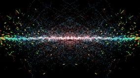 Cząsteczki fantazi ruch, Abstrakcjonistyczny fantazja ruchu tło, shi Zdjęcia Stock