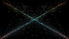 Cząsteczki fantazi ruch, Abstrakcjonistyczny fantazja ruchu tło, shi Fotografia Royalty Free