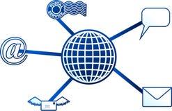 cząsteczki komunikacji royalty ilustracja