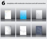 cząsteczkowe struktury Obraz Stock