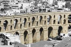 Część akwedukt w Kavala, Grecja obraz royalty free