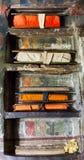 Część antyczna Tybetańska buddyjska biblioteka Himalaje, chłopaczyna Zdjęcie Stock
