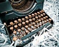 część antykwarski maszyna do pisania Fotografia Royalty Free