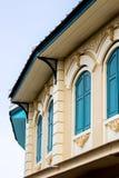 Część budynek w Tajlandzkich kolonisty stylu architektury syntezach między Europejskimi i Syjamskimi artystycznymi stylami Fotografia Stock