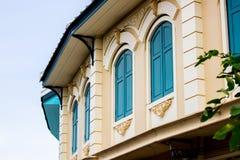 Część budynek w Tajlandzkich kolonisty stylu architektury syntezach między Europejskimi i Syjamskimi artystycznymi stylami Fotografia Royalty Free