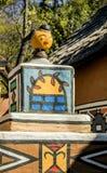 Część dom w południe - afrykańska wioska Zdjęcie Stock