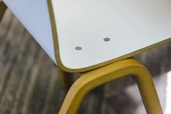 Część drewnianego krzesło projekta nowożytny styl Zdjęcia Royalty Free