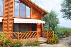 Część drewniany dom. Zdjęcia Stock