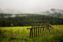 Część drewniany ogrodzenie Obraz Royalty Free