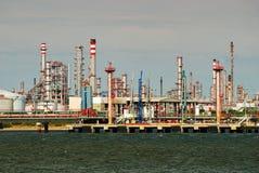 część duży powikłana rafineria zdjęcia stock