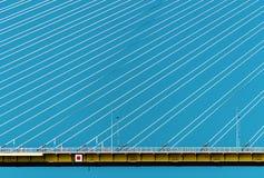 Część Eleftherios Venizelos most, Zachodni Grecja z niebieskiego nieba tłem Zdjęcia Royalty Free