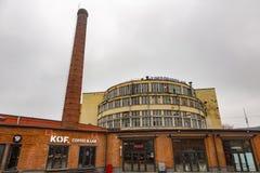 Część fasada Żadny zmechanizowana piekarnia 9 w Moskwa, Rosja Obraz Stock