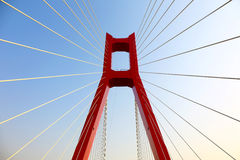Część kablowy most zdjęcia royalty free