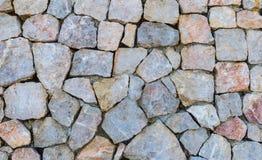 Część kamienna ściana Obrazy Royalty Free