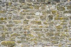 Część kamienna ściana dla tła lub tekstury Obraz Royalty Free