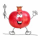 Część kolekcja owoc jako postać z kreskówki ilustracji