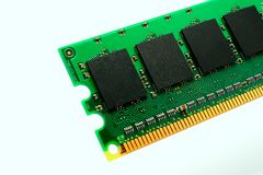 Część komputerowy RAM pamięci moduł Zdjęcia Stock