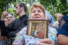 Część korowód dla pokoju w Kyiv Zdjęcie Stock