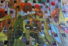 Część 11 000 m2 grafiki Arno Coenen wymieniali róg Plent Zdjęcie Stock