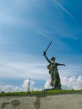 Część Mamaev Kurgan i kraju ojczystego zabytek w Stalingrad Luty 23, Maj 9 Zdjęcia Stock