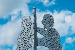 Część molekuła mężczyzna rzeźba w Berlin Obrazy Royalty Free
