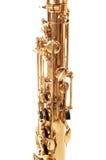 część mosiężny saksofon zdjęcie royalty free