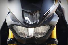 Część motocyklu ciało, przyśpiesza motorowego sport, czarny duży rower Zdjęcie Royalty Free