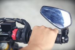 Część motocyklu ciało, przyśpiesza motorowego sport, duży rower Obraz Royalty Free