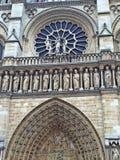 Część Notre Damae katedra Paryż fotografia stock