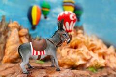 Część opisuje Cappadocia z osłem figurka zdjęcia stock