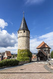 Część oryginalny drawbridge wierza który prowadzi kasztel wewnątrz Fotografia Stock